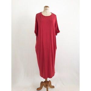 Zara red distressed maxi two pockets sz:L Fall